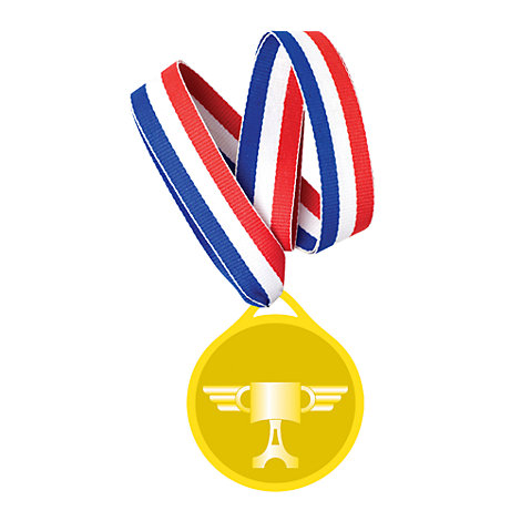 6 médailles Disney Pixar Cars