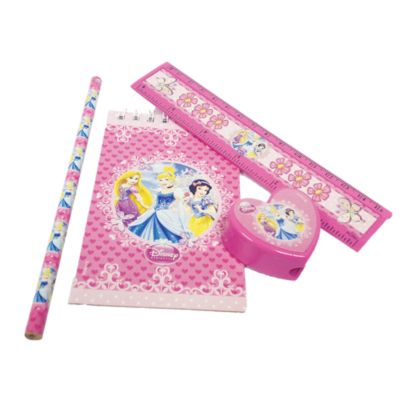 Lot de 20 articles de papeterie Princesses Disney
