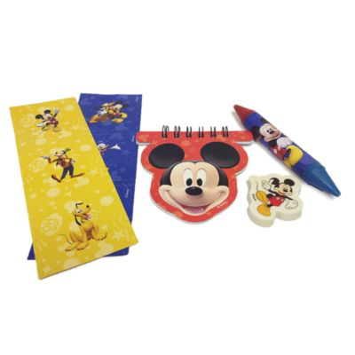 Lot de 20 articles de papeterie Mickey Mouse