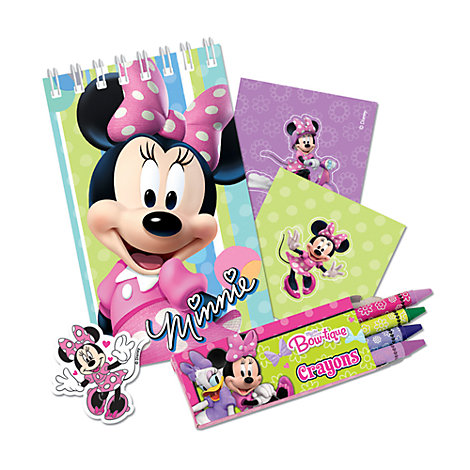 Lot de 20 articles de papeterie Minnie Mouse