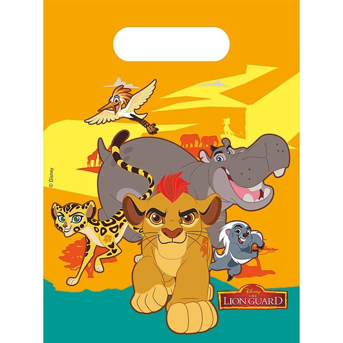 Lot de 6 sachets cadeaux La Garde du Roi Lion