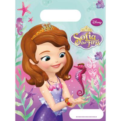 Lot de 6 sachets cadeaux Princesse Sofia