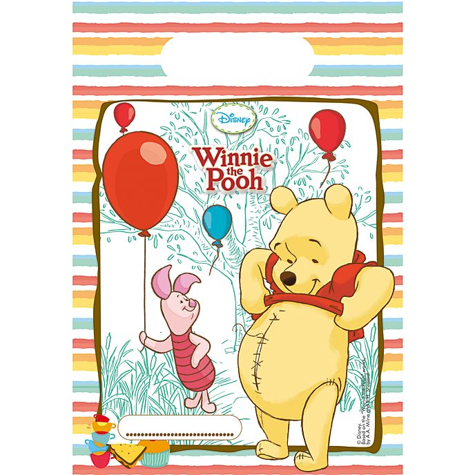 Bolsas fiesta Winnie the Pooh (6 u.)