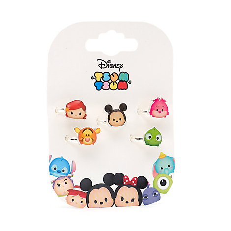 Tsum Tsum 5 Piece Ring Set