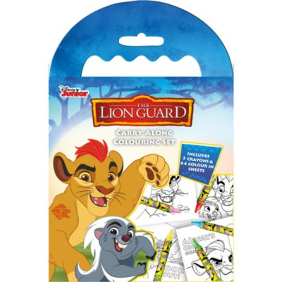 The Lion Guard Carry Along Colouring Set