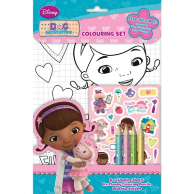 Doc McStuffins Colouring Set