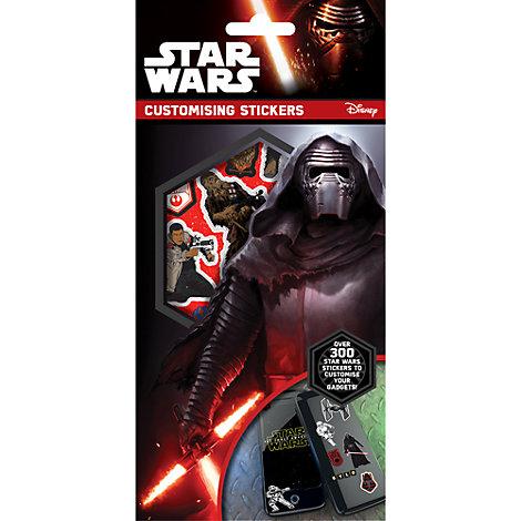 Pack de pegatinas de Star Wars para personalizar dispositivos electrónicos