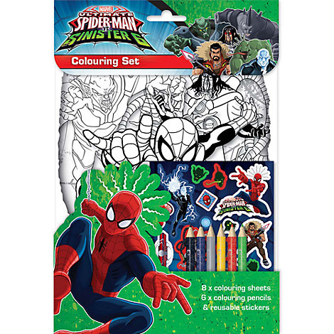 Spider-Man Colouring Set
