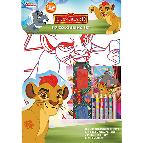 The Lion Guard 3D Colouring Set