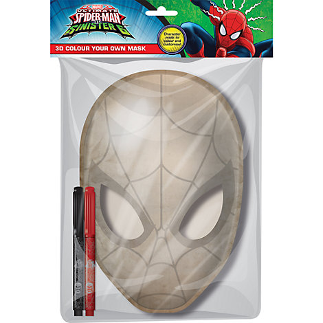 Spider-Man 3D Colour Your Own Mask