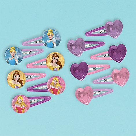 Disney Prinsessor hårklämma, 12-pack