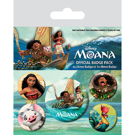 Moana Badges, Pack of 5