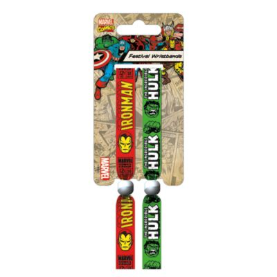 Iron Man and Hulk Festival Wristbands, Pack of 2