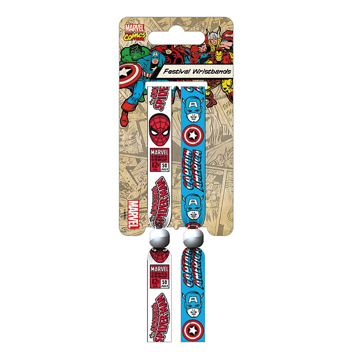 Captain America and Spider-Man Festival Wristbands, Pack of 2