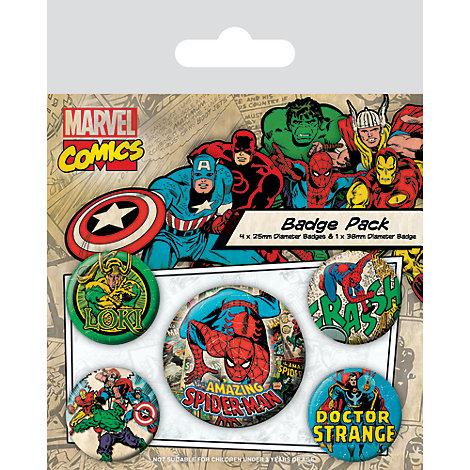 Avengers Badges, Pack of 5