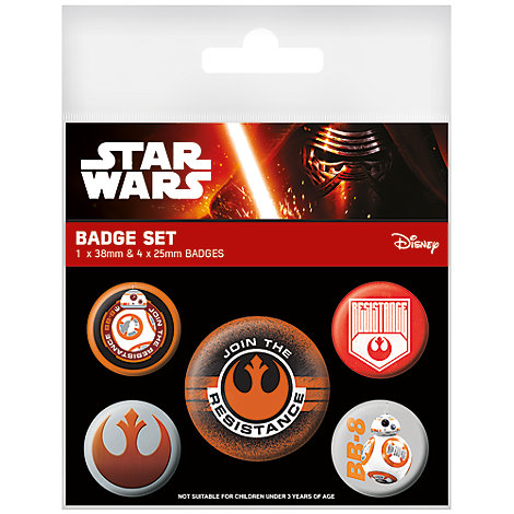 Star Wars: The Force Awakens Badges, Pack of 5