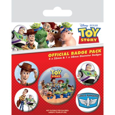 Toy Story Badges, Pack of 5