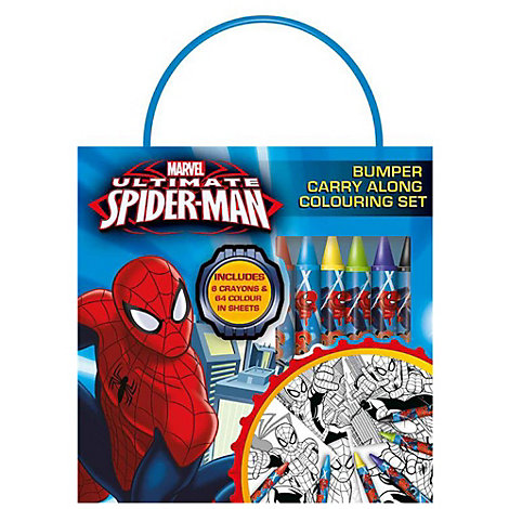 Ultimate Spider-Man Carry Along Colouring Set
