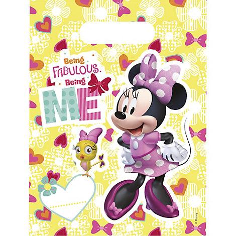 Minnie Mouse godteposer, sæt med 6 stk.