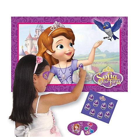 """Jeu festif """" Colle l'amulette """" Princesse Sofia"""