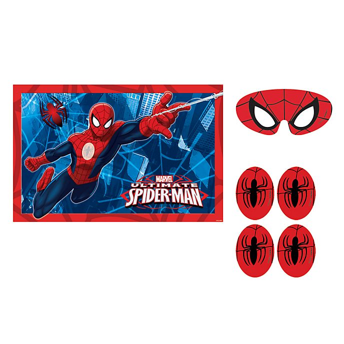 """Disney Store Spider-Man, gioco per festa """"Incolla il ragno"""""""