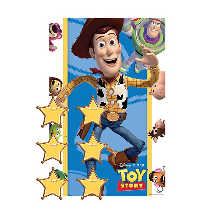 Disney Store Toy Story Stick The Badge Party Game