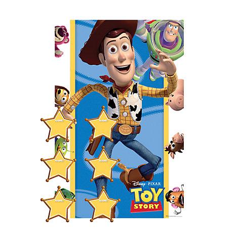 "Juego fiesta ""Pega la insignia"", Toy Story"