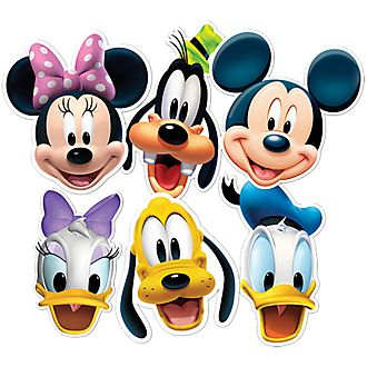 Disney Store Lot de 6 masques Mickey Mouse et ses amis