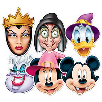 Disney Store Mickey Mouse And Friends 6x Halloween Masks Set