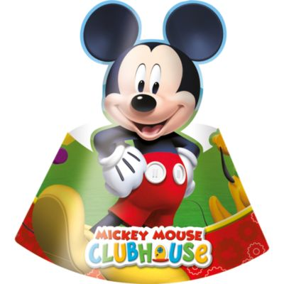 Mickey Mouse Clubhouse x6 Party Hats