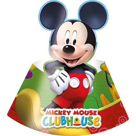 Gorros fiesta La Casa de Mickey Mouse (6 u.)