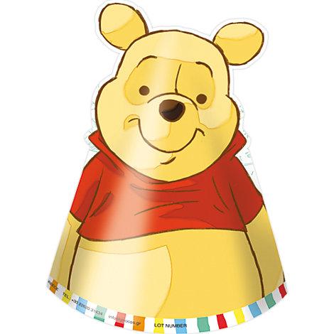 Winnie Puuh - 6 x Partyhüte
