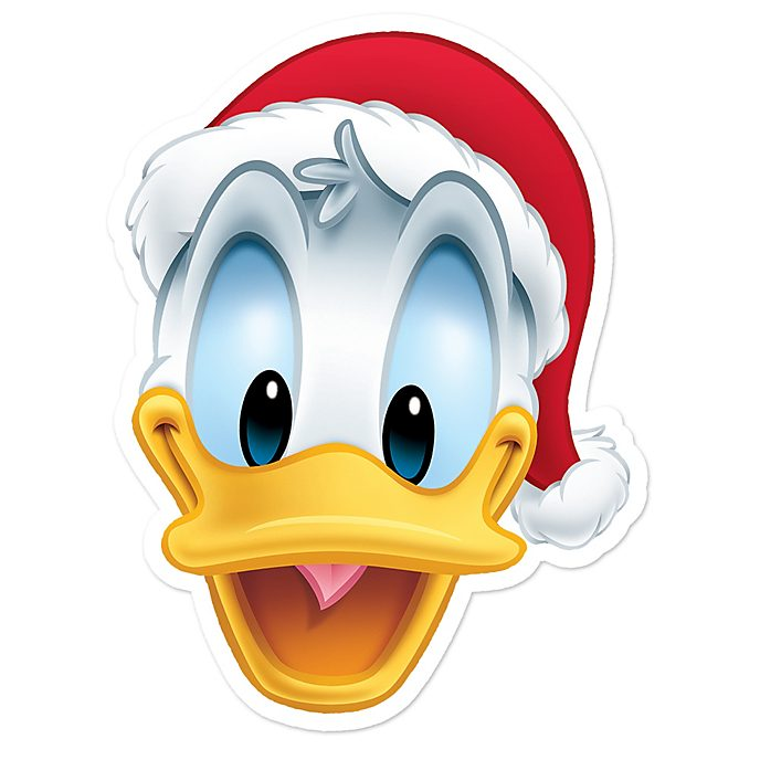 disney store donald duck christmas mask - Donald Duck Christmas