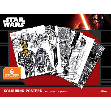 Ensemble de 6 posters Star Wars à colorier