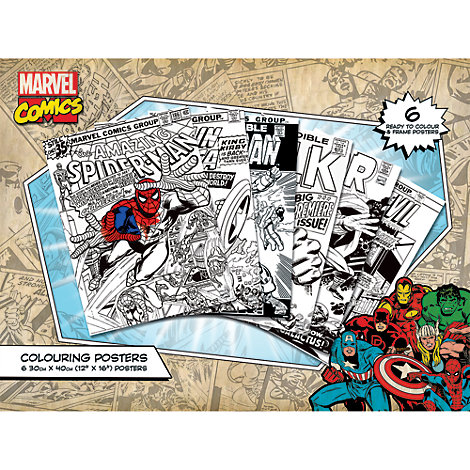 Ensemble de 6 posters à colorierAvengers