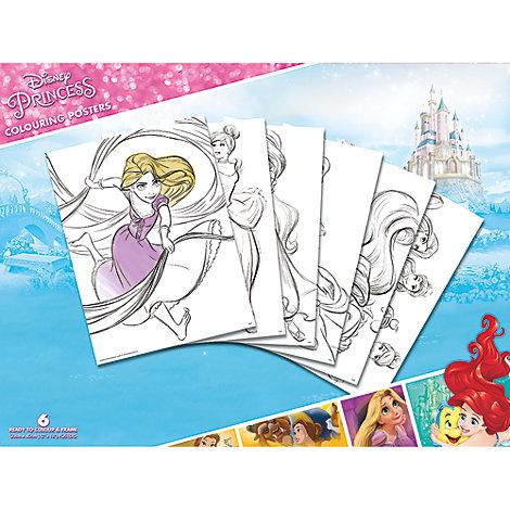 Ensemble de 6 posters Princesses Disney à colorier