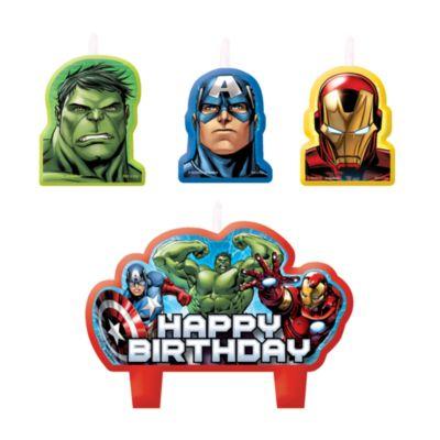 The Avengers - 4 x Geburtstagskerzen