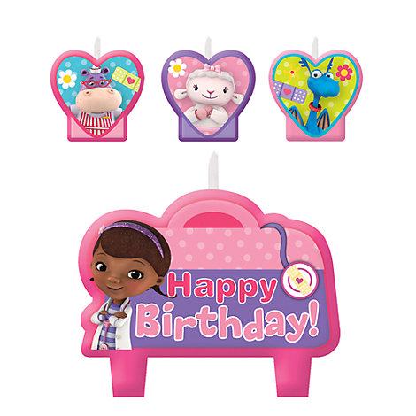 Doktor McStuffins sæt med fødselsdagslys