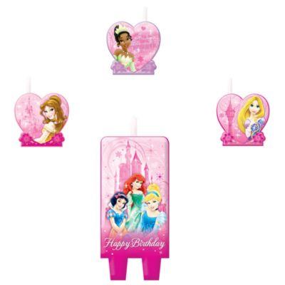 Lot de bougies d'anniversaire Princesses Disney