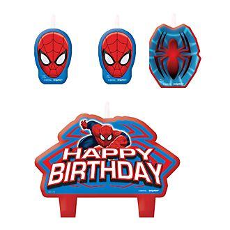 Disney Store Spider-Man, set candeline Happy Birthday