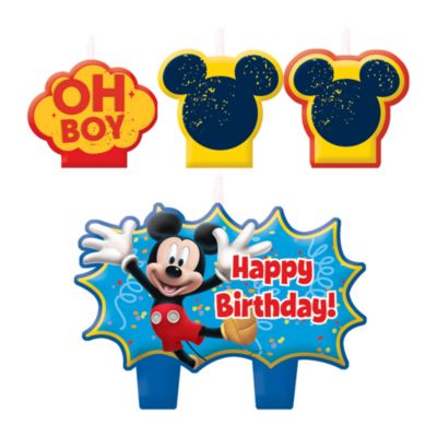 Lot de bougies d'anniversaire Mickey Mouse