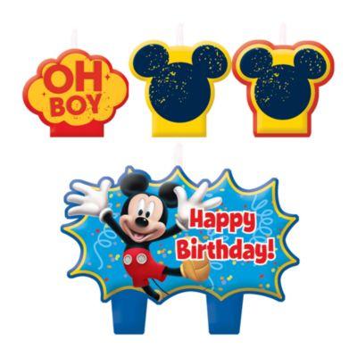 Micky Maus - 4 x Geburtstagskerzen