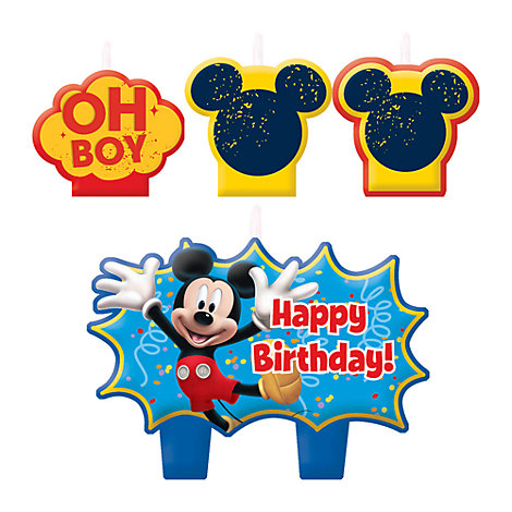 Mickey Mouse Birthday Candle Set