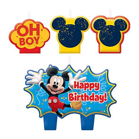 Musse Pigg set med födelsedagsljus
