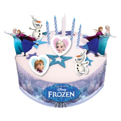 Frozen Party Cake Decorations Candles Disney Party