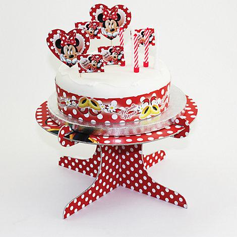 Sæt med Minnie Mouse kagepynt