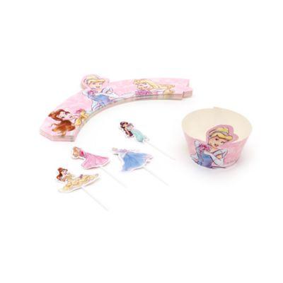 Cápsulas y decoraciones cupcakes princesa Disney