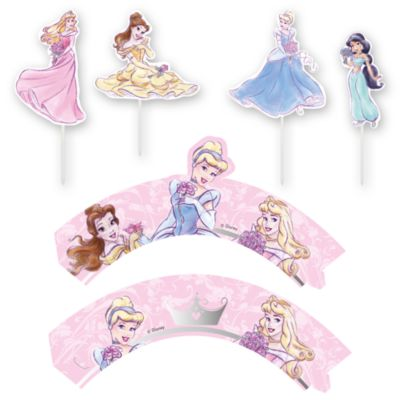 Disney Prinzessin - Set mit Cupcake-Dekohüllen und -Aufsteckern
