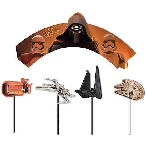 Star Wars - Set mit Cupcake-Dekohüllen und -Aufsteckern