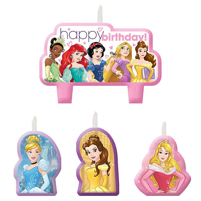 Set velas cumpleaños princesa Disney